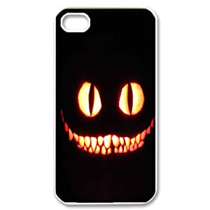 Characteristic Funny Phone Case Cheshire Cat For iPhone 4,4S send Tempered Glass Screen Protector NP4K03350