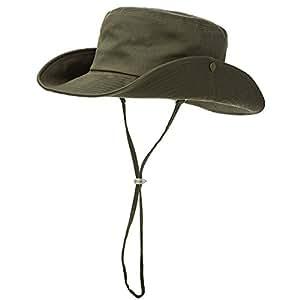 Siggi 100% Cotton Outdoor UPF 50+ Foldable Boonie Cap for Men Womens Bucket Sun Hats ArmyGreen