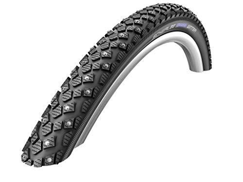 SCHWALBE, Marathon Winter Plus, Tire, 26''x1.75, Wire, Clincher, Winter, SmartGuard, 67TPI, Black