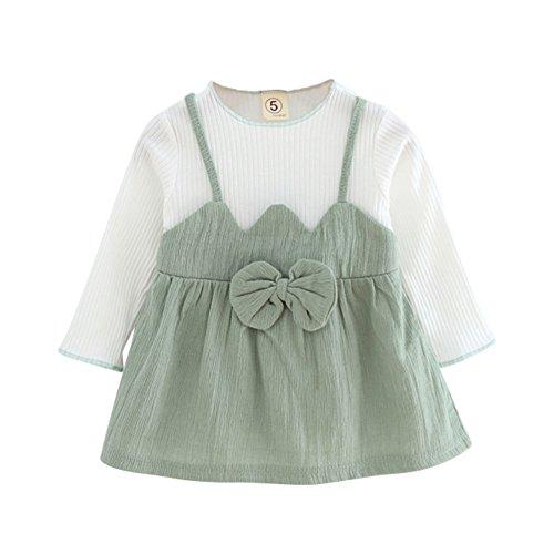Longue Bébé Enfant En Bas Âge Weixinbuy Fille Manches Jupe Tutu Ras Du Cou Une Robes De Princesse Pièce Grise