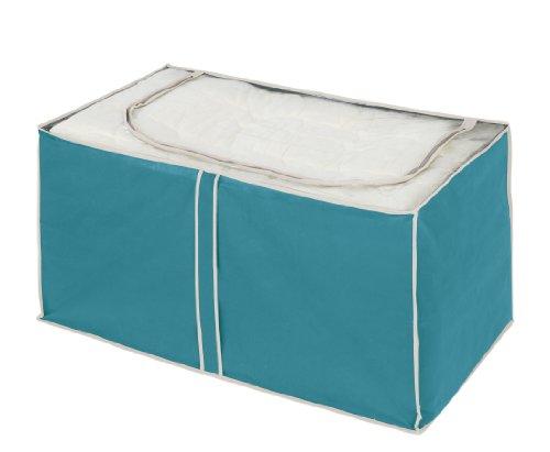 WENKO 4400056100 Jumbo-Box Breeze, 100 % Polypropylen, 91 x 48 x 53 cm, Petrol