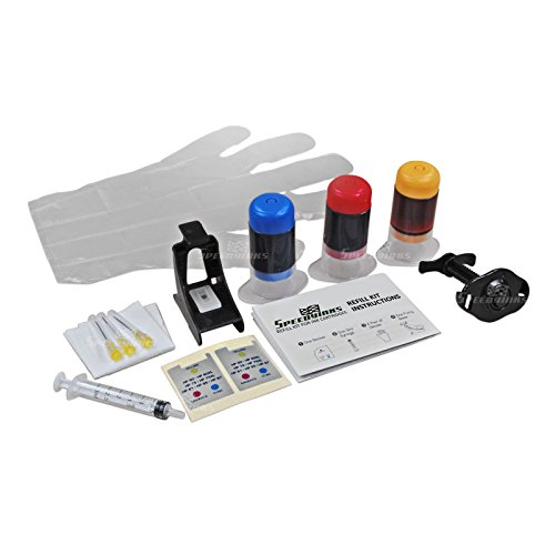 Speedy Inks - Color Ink Refill Kit For Hewlett Packard CH562WN HP 61