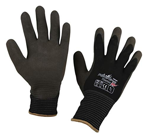 Kerbl PowerGrab Thermo W 297583 Winter Gloves Size 9 Latex with Double-Layered Acrylic - Latex Layered