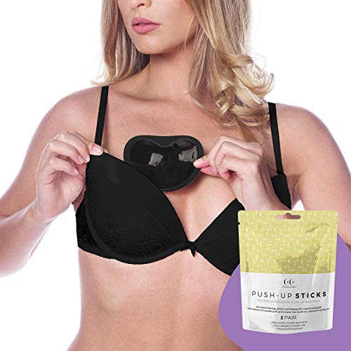Coco's Closet Bra Pads Inserts – Push Up Bra Enhancer Insert – Bras Cups Adhesive for Breast Cleavage
