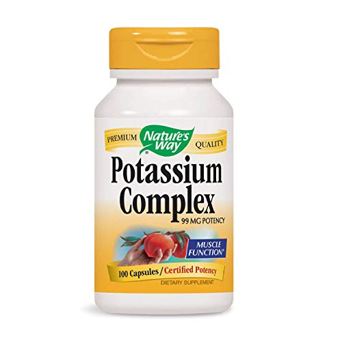 Nature's Way Potassium Complex, 100 Capsules (Pack of 3) (Packaging May Vary)