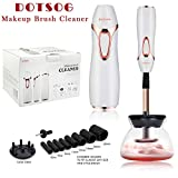 Pro Makeup Brush Cleaner, DOTSOG Electric Automatic Cosmetic Brushes Cleaner and Dryer with 360º Rotation, 8 Rubber Professional Makeup Brush Cleaning Tool for Makeup Brush, Beauty, Women Gifts