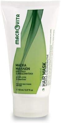 macrovita Máscara Nutritiva y ricostruttiva para pelo aceite de oliva & Aceite de laurel 150ml.