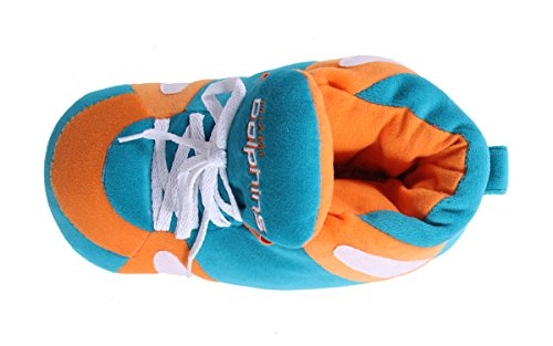 Feet LICENSED Sneaker NFL OFFICIALLY Miami Happy and Dolphins Mens Slippers Comfy Feet Womens 1dwUqUS