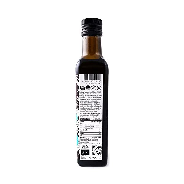 Hemp Seed Oil – Organic Cold Pressed Raw Hemp Oil – 250ml – Vegan and Gluten Free