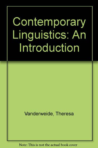 Contemporary Linguistics: An Introduction (Study Guide) (Aronoff Center)