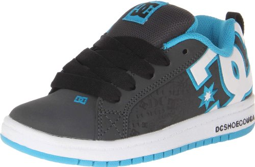 DC Shoes Kid's Court Graffik Se Fashion Sports Skate Shoe Lagoon/Black