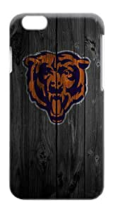 Rugged iPhone 6 Case - Wood Chicago Bears Logo Plastics Snap-on Hardshell Case for iPhone 6 4.7 Inch