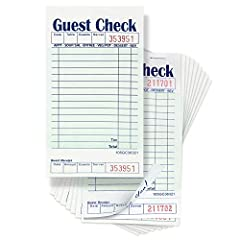 """Perfect Size These restaurant guest checks are 3 1/2"""" x 6 3/4"""" in size which makes them a good fit for hotel staff aprons. 50 checks are available in each book, and 10 books are available in a case, so you get 500 checks at such a low ..."""