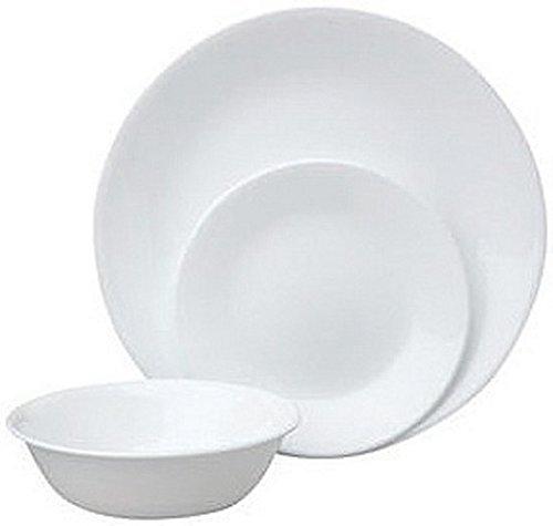 Corelle Livingware 12 Piece Dinnerware Set, Winter Frost White , Service for 4 (Cheap Corelle Dinnerware)