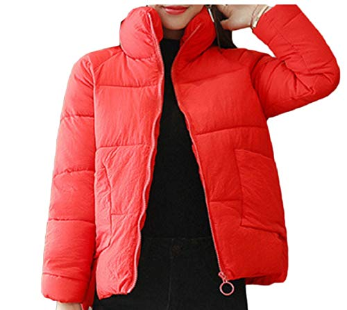 Calda Giacca Outwear Breve Cappotto Rosso Giù Womens Soffiatore Sicurezza Invernale nXE1qwF6x