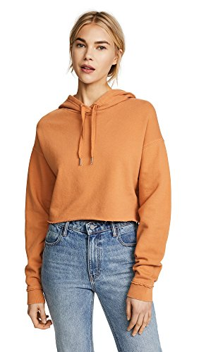 Joe's Jeans Women's x Taylor Hill Cropped Hoodie, Tumeric, X-Small (Jean Cropped Joes Jeans)