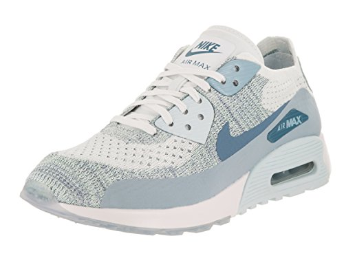 NIKE Women's Air Max 90 Ultra 2.0 Flyknit White/Lt Armory Blue Running Shoe 8.5 Women US by NIKE