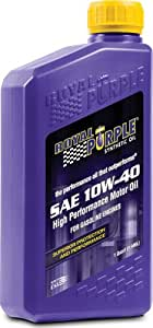 Royal Purple 12140 API-Licensed SAE 10W-40 High Performance Synthetic Motor Oil - 1 qt. (Case of 12)