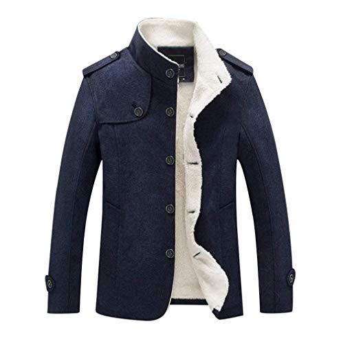 Dunkelblau Slim Windproof Winter Stand Men Leisure Warmth Plus Men's Thicken Overcoat Fit Men Collar Fake Fur Ropa Autumn Rme Velvet Warm xAq4wCzR