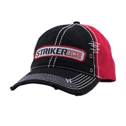 Striker Distressed Trucker Cap (ONE.Size/Black/RED) 509950