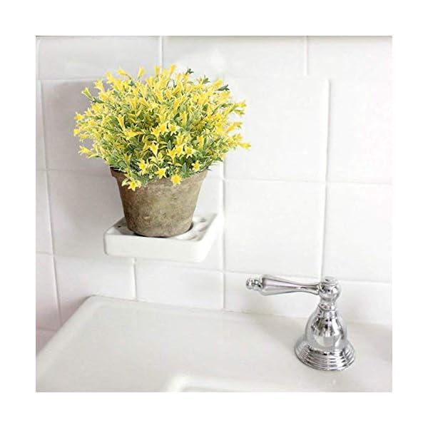 XYXCMOR-4PCS-Artificial-Lilies-Flowers-Outdoor-Fake-Greenery-Plants-Plastic-Faux-Floral-Bouquet-Arrangements-Home-Office-Garden-Table-Centerpiece-Patio-Yard-Winter-Decor-Yellow