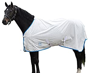 Kool Coat Lite Standard Neck Fly Sheet White/Blue 75