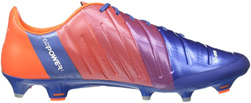 Puma evoPower 1,3 FG Chaussure de Football Puma Yonder-Blue/White/Shocking Orange 10