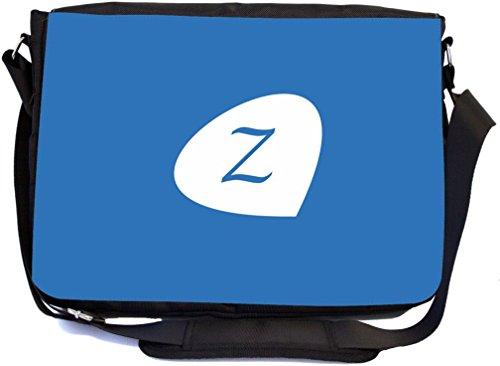 "Rikki Knight Letter ""Z"" Initial Dazzling Blue Color Petal..."