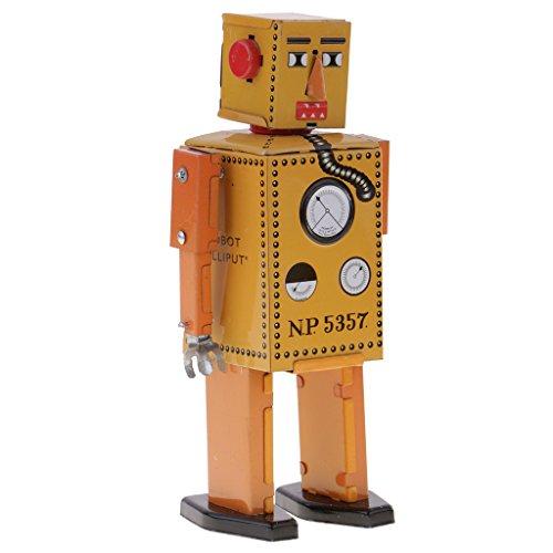 Jili Online 3PCS Vintage Tin Toy Mechanical Clockwork Lilliput Robot Collectible Models by Jili Online (Image #2)