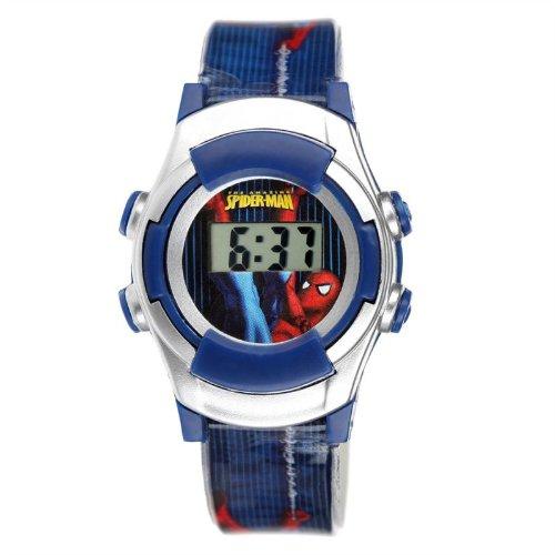 Spiderman SDMC111- - Reloj digital de cuarzo para niño con correa de plástico, color multicolor: Amazon.es: Relojes