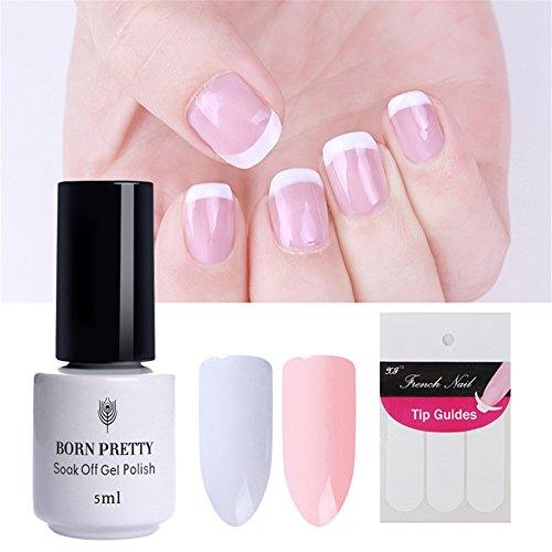 BORN PRETTY 2 Bottles Nail Art Soak Off UV Gel Polish White