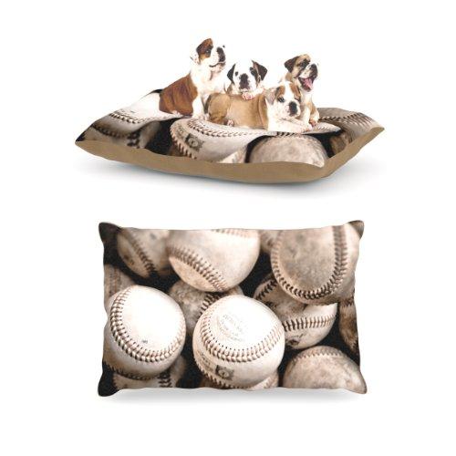 Kess InHouse Debbra Obertanec ''On The Mound'' Baseball Dog Bed by Kess InHouse