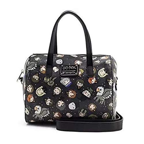 Loungefly x Harry Potter Chibi Character Print Duffel Purse (One Size, Multicolored) ()