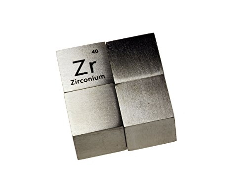 (Zirconium Metal 10mm Density Cube 99.95% Pure)