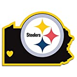 Siskiyou Sports Unisex NFL Pittsburgh Steelers Home State Decal, 5″, White