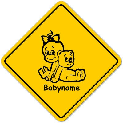 Road Sign Baby Schild mit Saugnapf - Motiv 784 Unbekannt