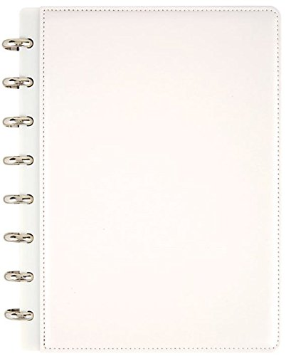 "TUL Custom Note-Taking System Notebook, 6 3/4"" x 8 3/4, Narrow Ruled, 60 Pages, Pearl White"