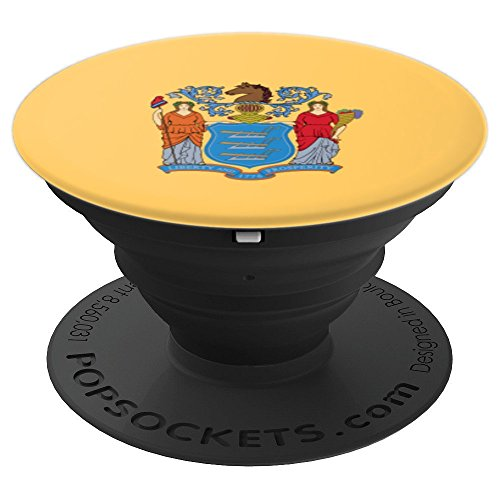 Flag Of New Jersey, The Garden State - PopSockets Grip and Stand for Phones and (Grip Jersey)