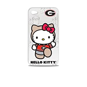 Tribeca Gear FVA7003 Hard Shell Case for iPhone 4 -  Hello Kitty - University of Georgia - 1 Pack - Retail Packaging - White