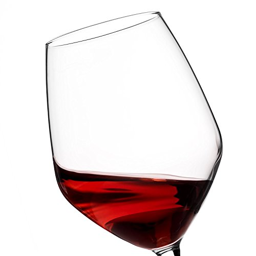 Paksh Novelty Italian Red Wine Glasses - 18 Ounce - Lead Free - Wine Glass Clear (Set of 8) by Paksh Novelty (Image #5)
