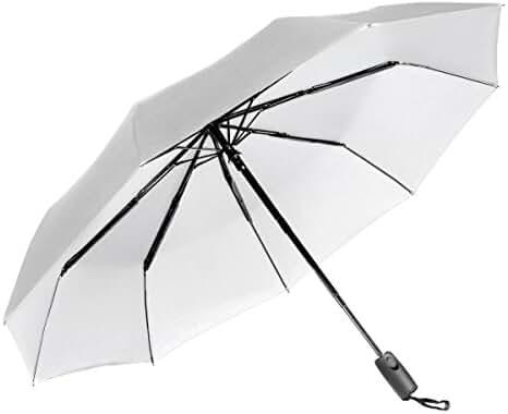 Repel Easy Touch Umbrella 11.5-Inch DuPont Teflon Travel Umbrella, White