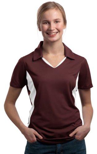 Sport-Tek Women's Side Blocked Micropique Sport Wick Polo S - Outlet Apparel Sports