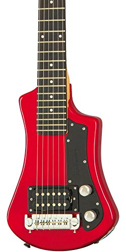 Hofner 6 String Shorty Electric Travel Guitar-Blue w/Gig Bag, Right Handed, (HCT-SH-BL-O)