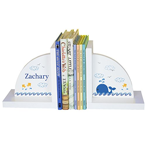 Personalized Bookends (Boys's Whale Personalized Bookends)