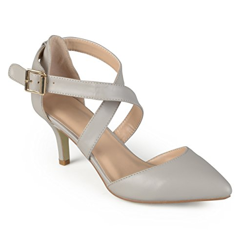 Journee Collection Womens Pointed Toe Matte Pumps Grey nnVDOAu
