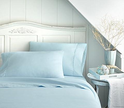 Bed Sheet Set by Becky Cameron Bedding - Deep Pocket Sheets - 1800 Series 4 Piece Set - Queen - - Blue Plush Mattress Set