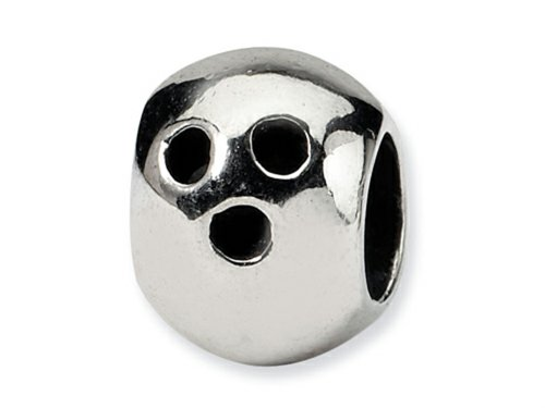 Reflections Sterling Silver Bowling Ball Bead/Charm ()
