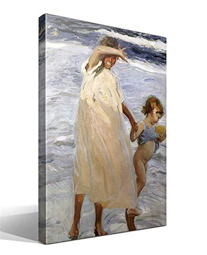 Cuadro Canvas Dos Hermanas, Valencia de Joaquin Sorolla y Bastida
