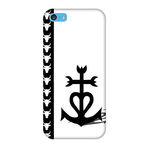 Coque Iphone 5c - Croix de Camague fond blanc