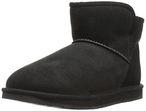 Amazon Brand - 206 Collective Women's Bellevue Shearling Ankle Boot, Black, 8 B US